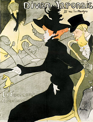 Divan Japonais by Henri de Toulouse-Lautrec at