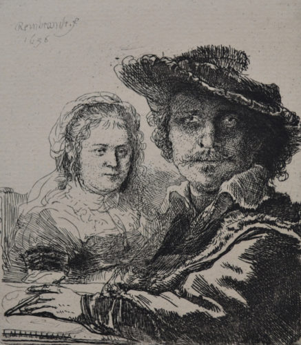 Self Portrait With Saskia by Harmensz van Rijn Rembrandt