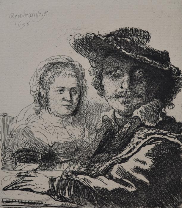 Self Portrait With Saskia by Harmensz van Rijn Rembrandt