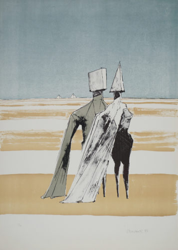 Two Figures In A Landscape by Lynn Chadwick