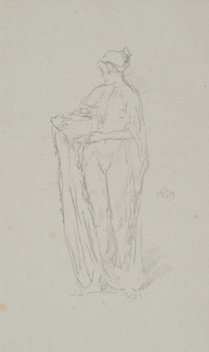 Girl With Bowl. by James Abbott McNeill Whistler