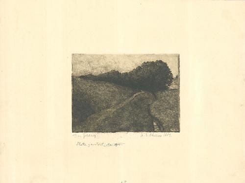Der Feldweg by Martin Erich Philipp at