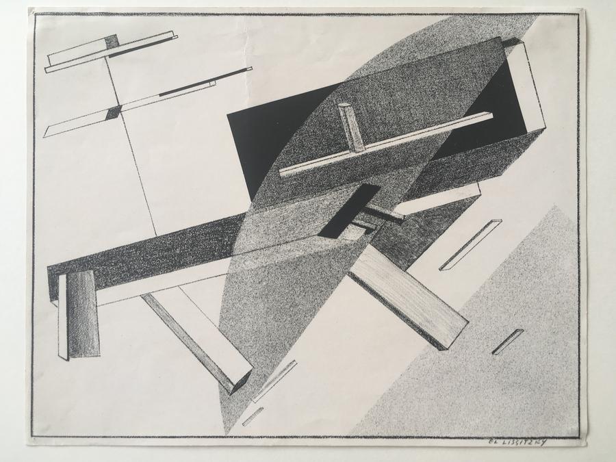 Proun B 2 – Lithographie 2 B by El Lissitzky