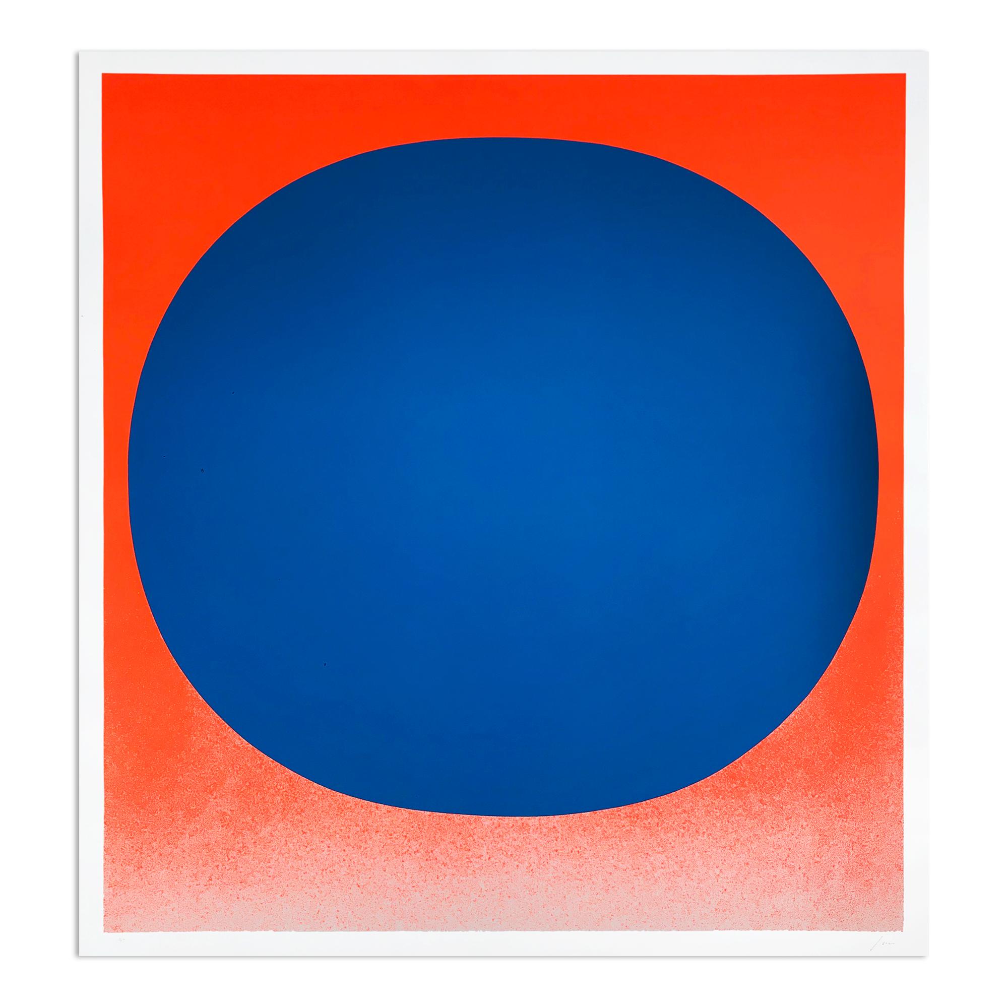 Blue On Orange by Rupprecht Geiger