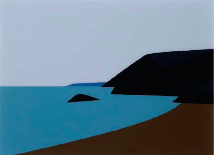 Cornish Coast 2.: Lantic Bay by Julian Opie at Julian Opie