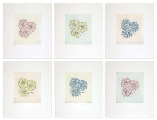 Flowers With Bee by Kiki Smith