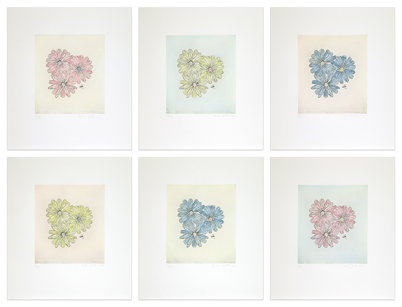 Flowers With Bee by Kiki Smith