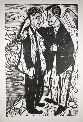 Die Freunde (müller Und Scherer) (friends (müller And Scherer) by Ernst Ludwig Kirchner at Galerie Henze & Ketterer & Triebold