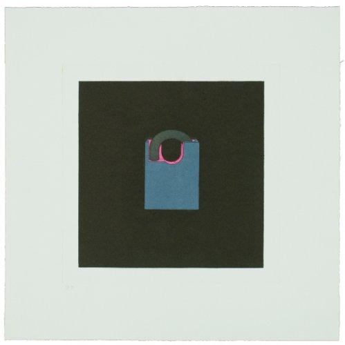 The Catalan Suite I – Padlock by Michael Craig-Martin at