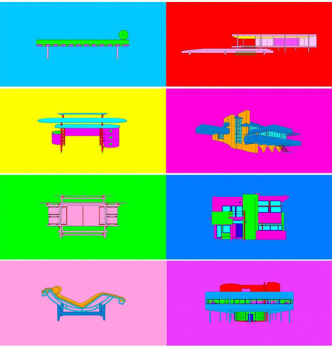 Design & Architecture by Michael Craig-Martin at Jonathan Novak Contemporary Art