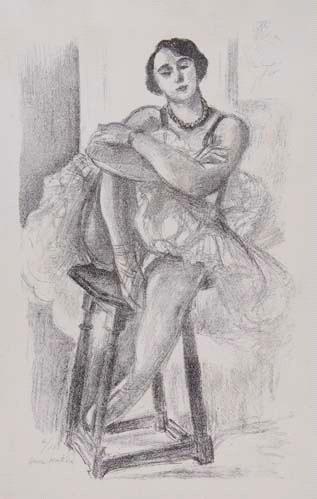 Danseuse Au Tabouret by Henri Matisse