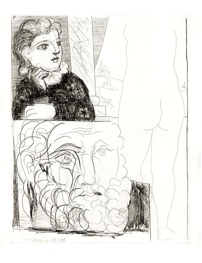 Modern Art: La Bonne Dans L'atelier De Sculpture (S.V. 71) by Pablo Picasso