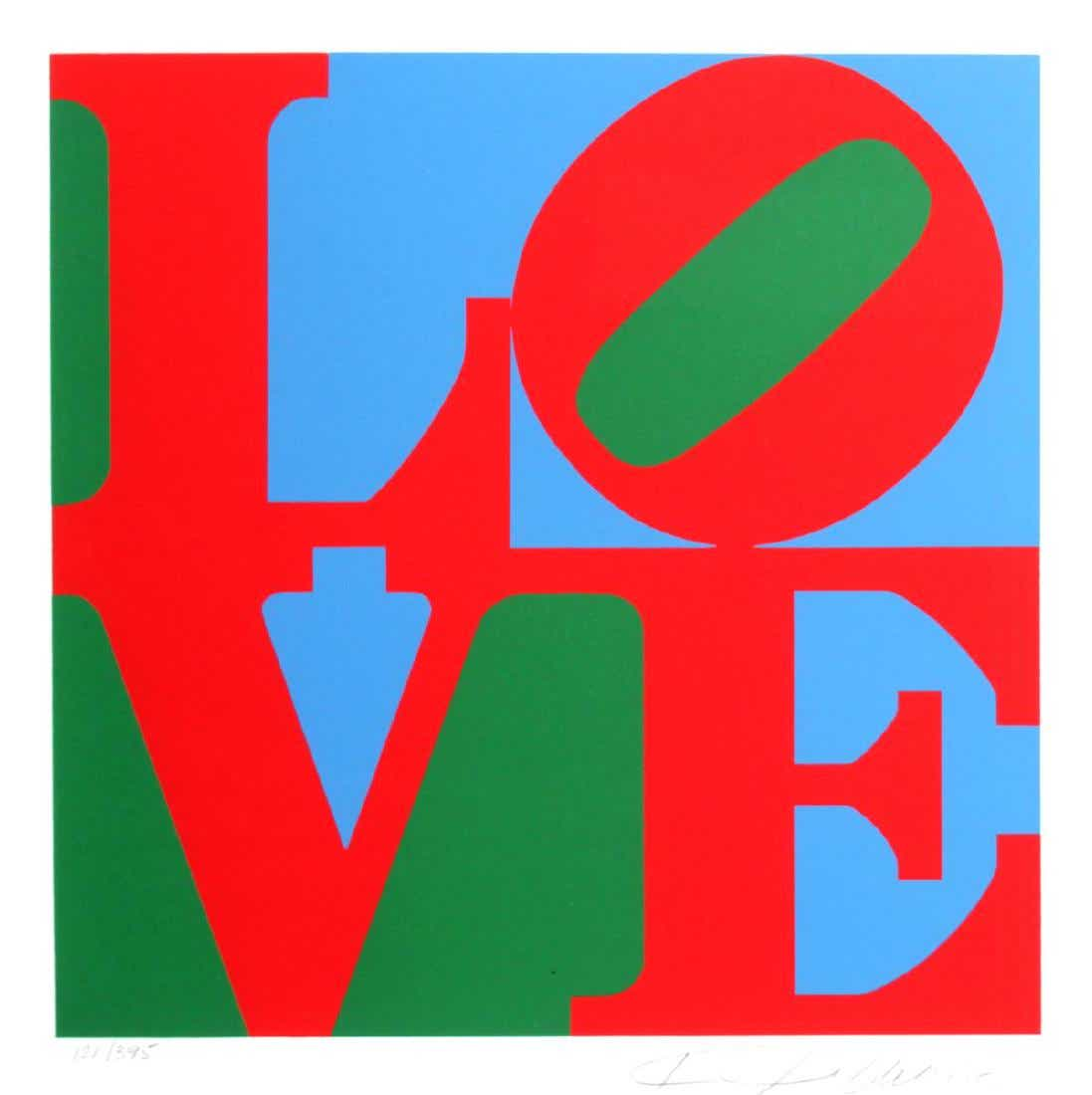 Love (red Green Blue) by Robert Indiana