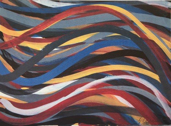 Modern Art: Plate #17 – Brushstrokes: Horizontal And Vertical by Sol Lewitt