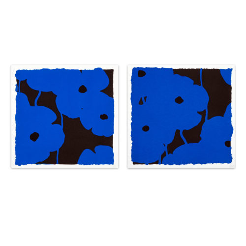Blues (suite Of Two Silkscreens) by Donald Sultan at