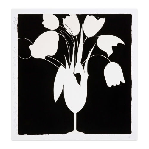White Tulips And Vase by Donald Sultan at