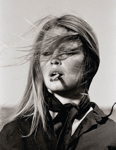 Bridgitte Bardot With Cigar On The Set Les Petroleuses by Terry O'Neill at Terry O'Neill