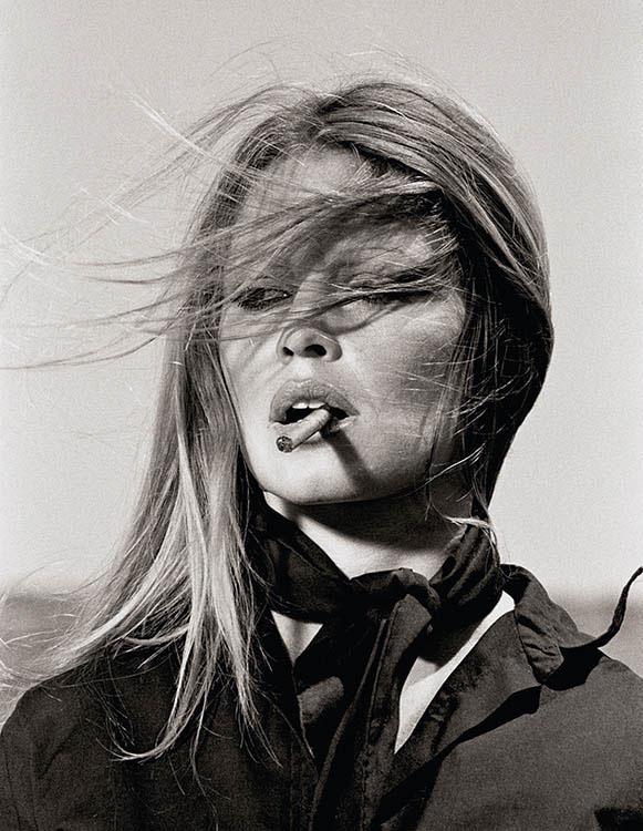Bridgitte Bardot With Cigar On The Set Les Petroleuses by Terry O'Neill