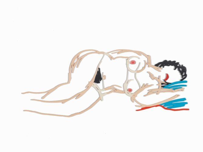 Hedy Sleeping by Tom Wesselmann