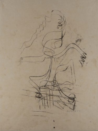 Untitled (woman) by Fritz Winter