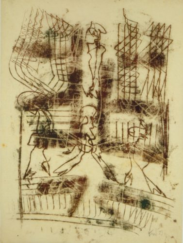 Untitled (4 Figures) by Fritz Winter