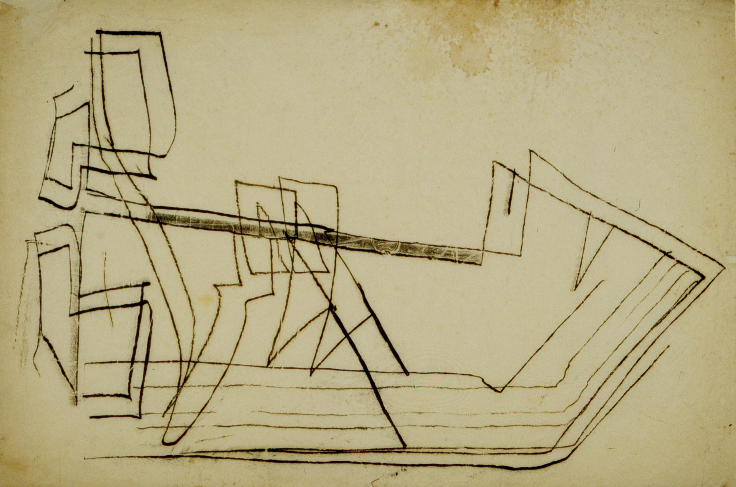 Untitled (boat) by Fritz Winter