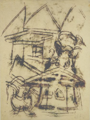 Untitled (houses) by Fritz Winter