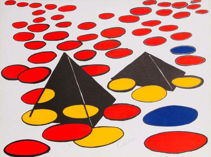Black Pyramids by Alexander Calder at