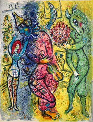 Le Cirque M. 498 by Marc Chagall