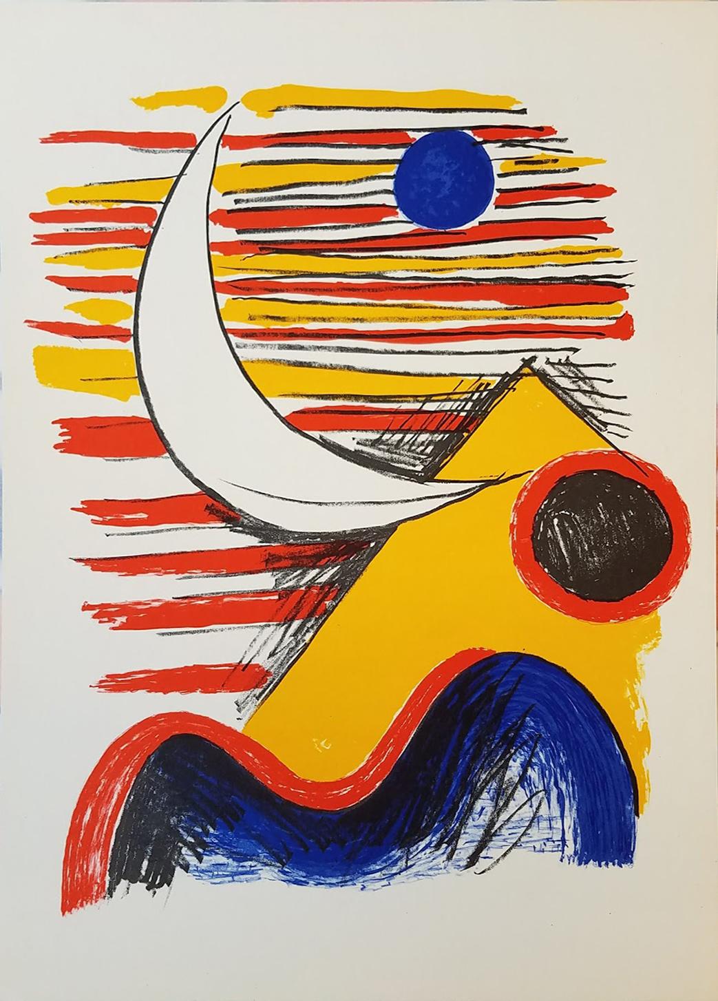 La Lune Et La Montagne Jaune by Alexander Calder