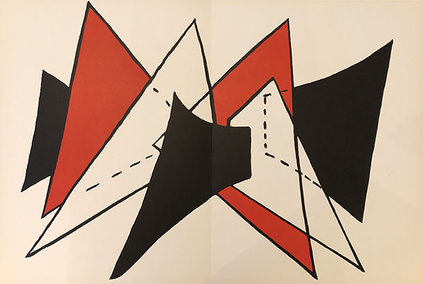 Red And Black Triangles by Alexander Calder