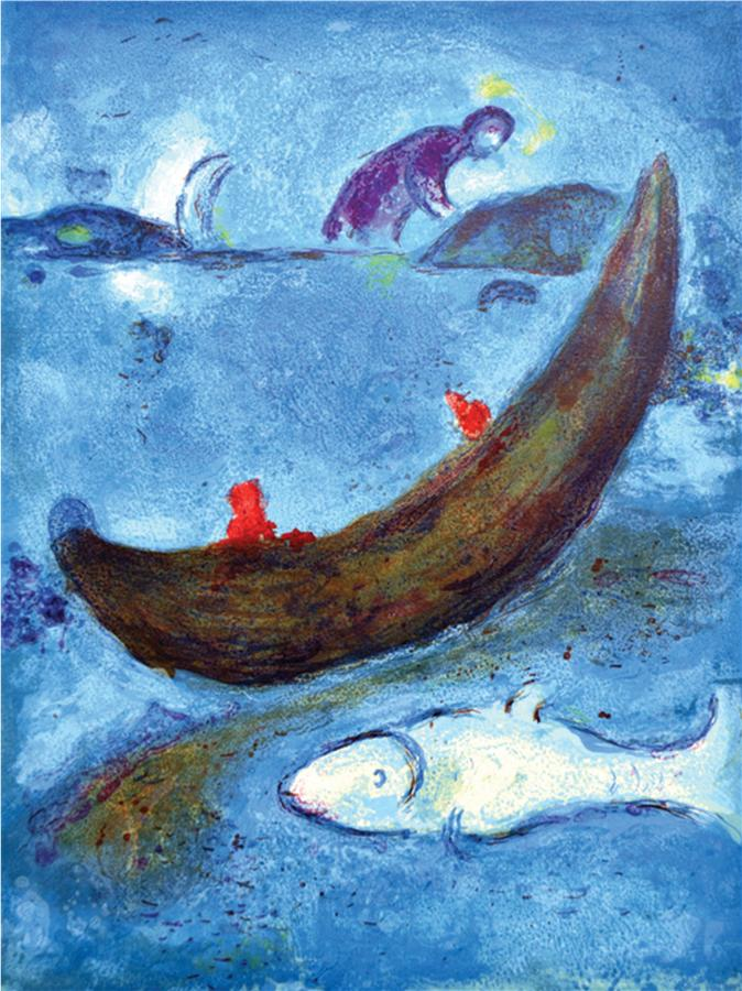 The Dolphin And The 300 Drachmas by Marc Chagall