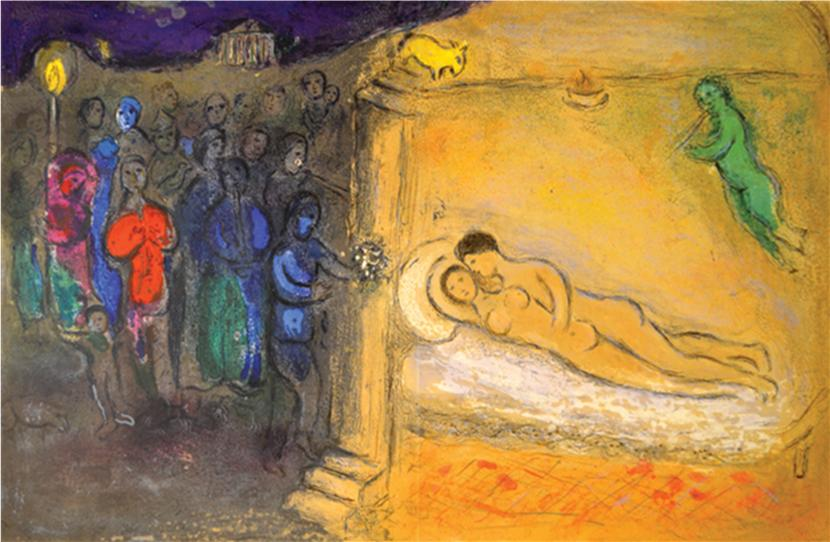 The Wedding Night by Marc Chagall