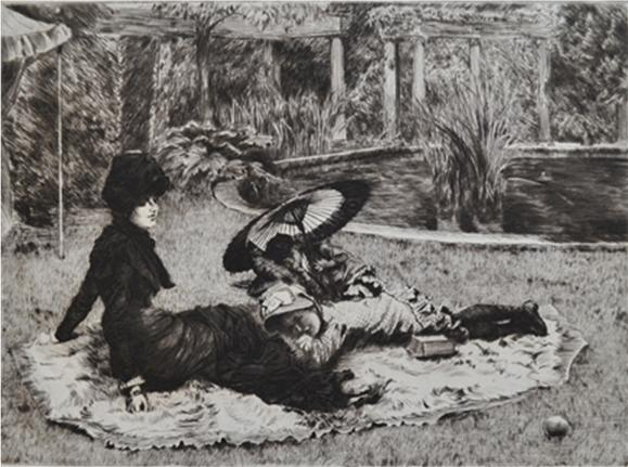 Sur L'herbe by James Tissot at