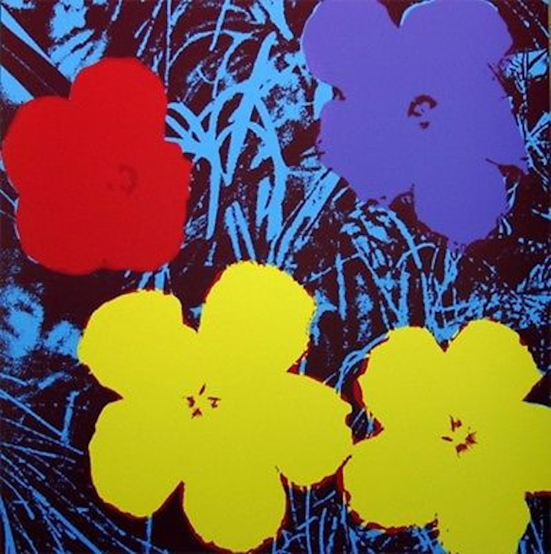 Flowers Viii by Andy Warhol (after)