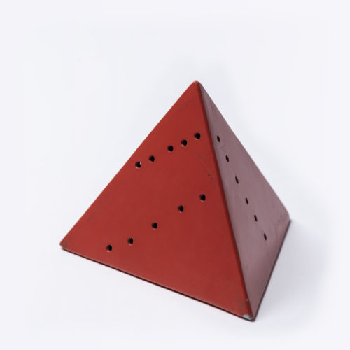 Piramide (red) by Lucio Fontana