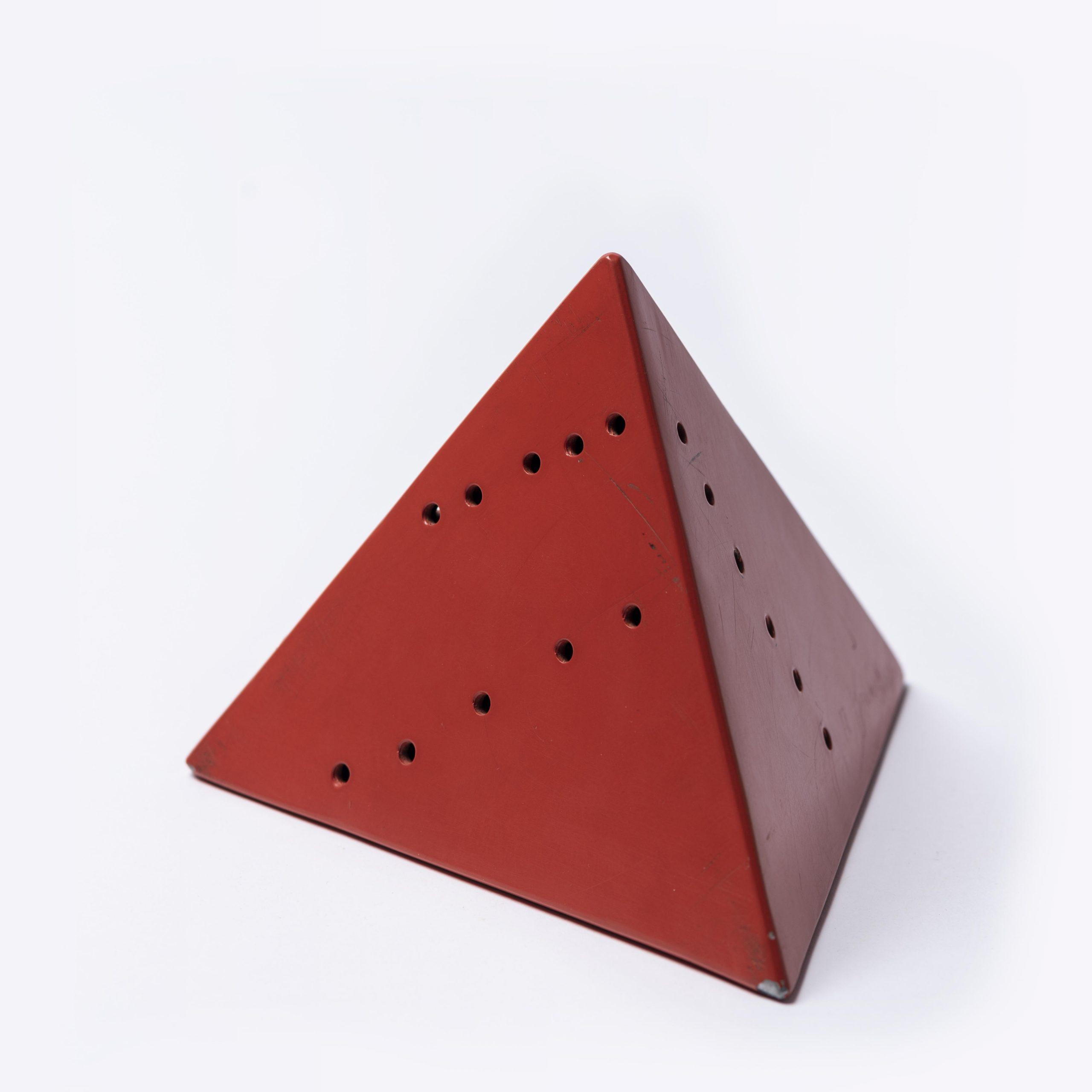 Piramide (red) by Lucio Fontana