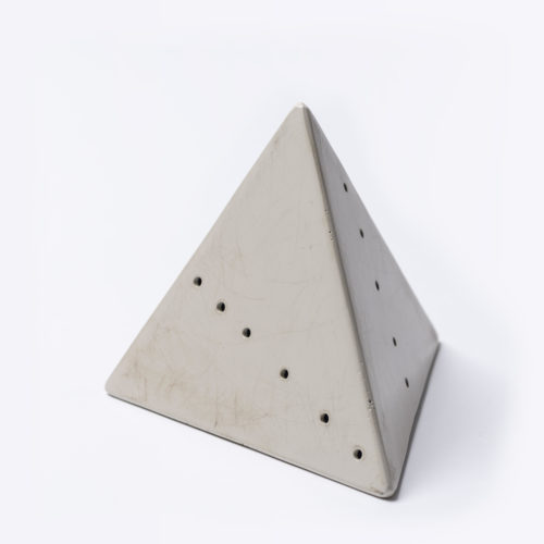 Piramide (white) by Lucio Fontana
