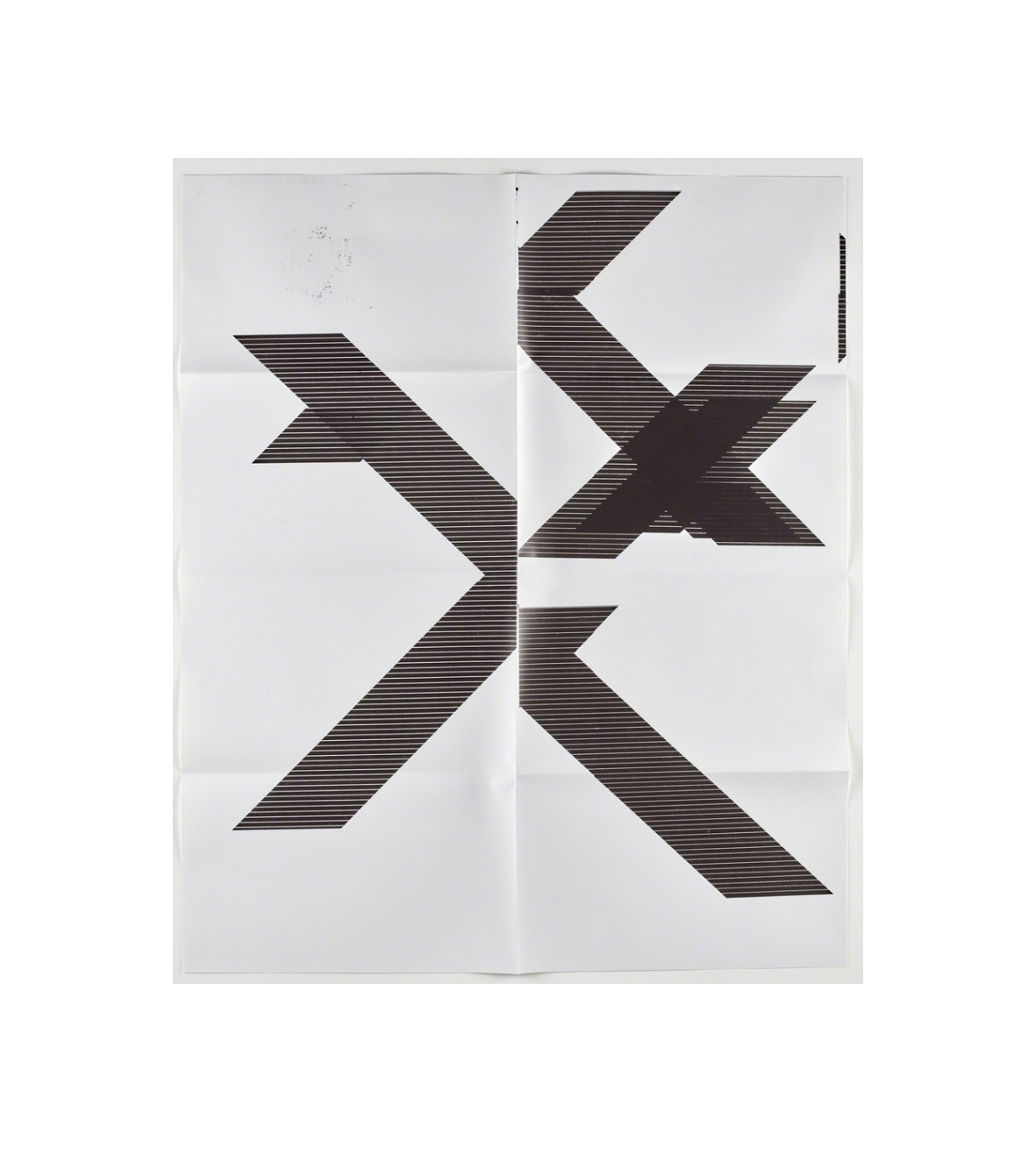 X Poster (untitled, 2007, Epson Ultrachrome Inkjet On Linen, 84 X 69 In, Wg1210) by Wade Guyton