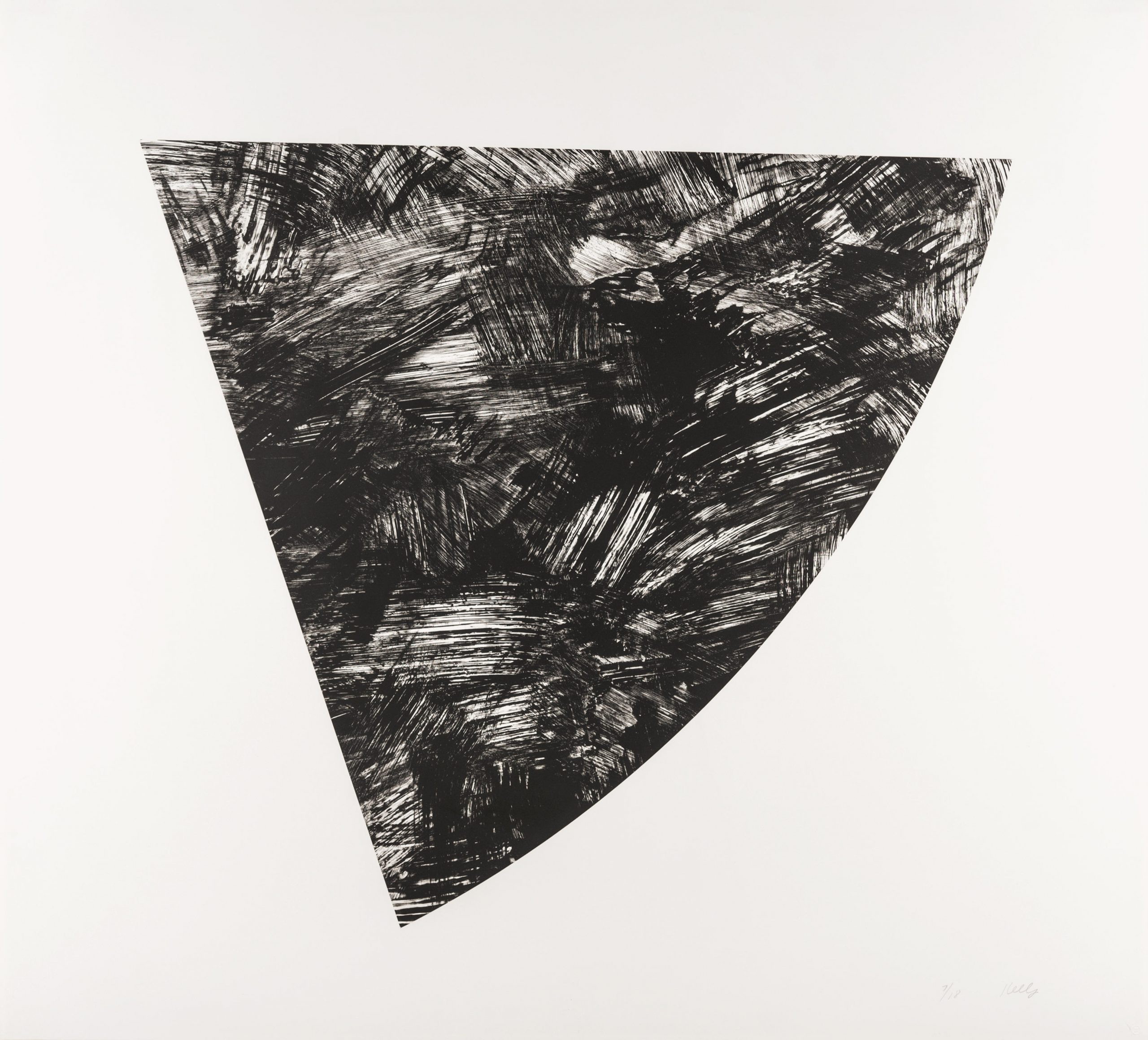 Untitled (gray State I) by Ellsworth Kelly
