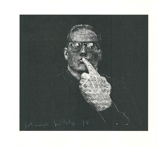 Selbstportrait by Johannes Grützke at