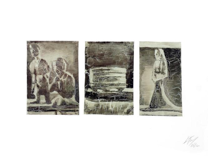 Untitled (triptych) by Luc Tuymans