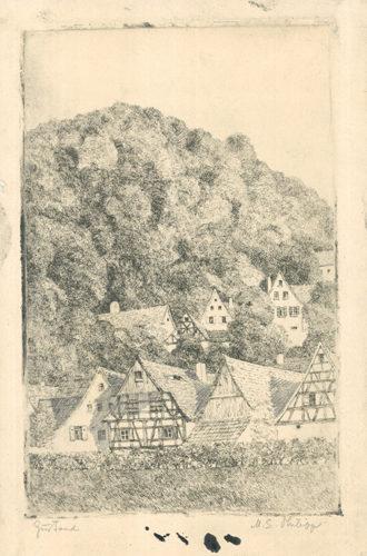 Fränk.  Dorf Eggloffstein by Martin Erich Philipp at