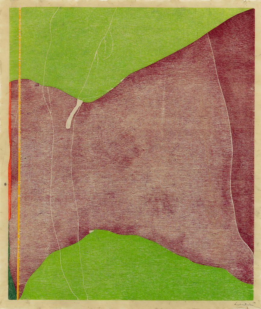 Woodcut: Savage Breeze by Helen Frankenthaler