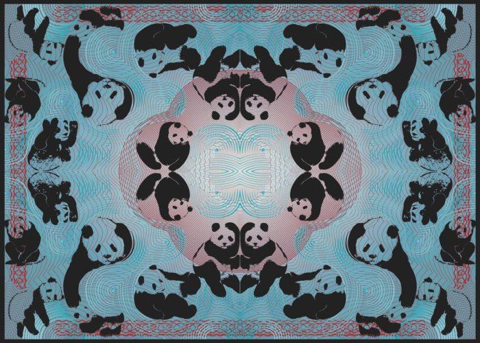 Pandamonium – Blue (socio-politicking Series) by Booda Brand