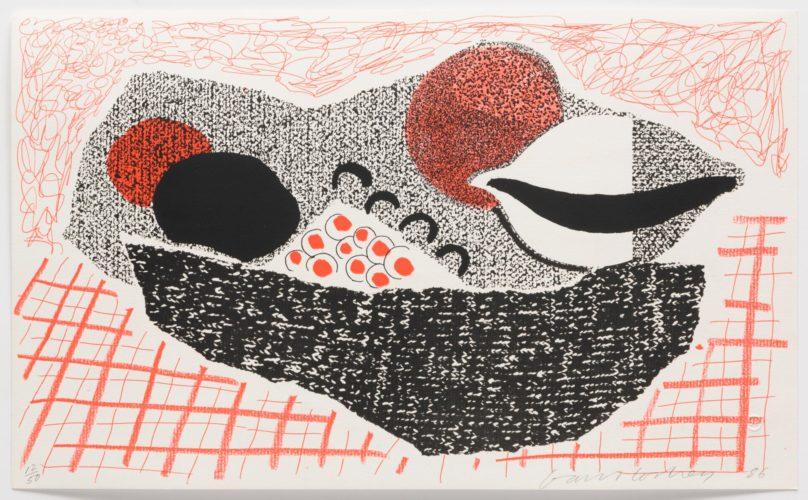 Lemons and Oranges, May 1986 by David Hockney at Leslie Sacks Gallery (IFPDA)