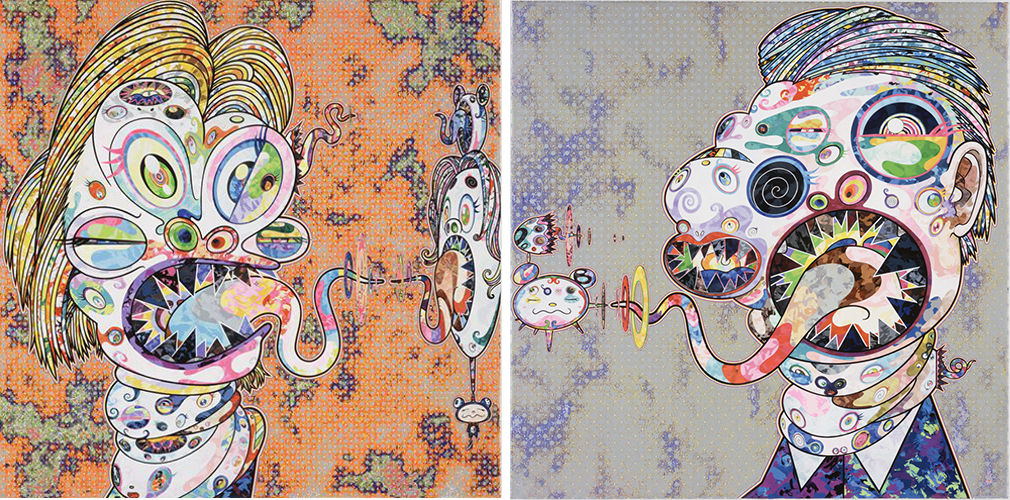 Homage To Francis Bacon (study For Head Of Isabel Rawsthorne And George Dyer) by Takashi Murakami