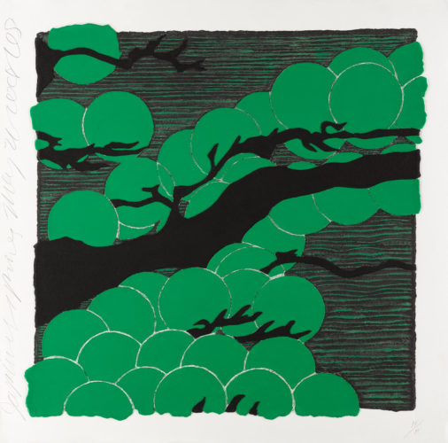 Japanese Pines, 2008 by Donald Sultan