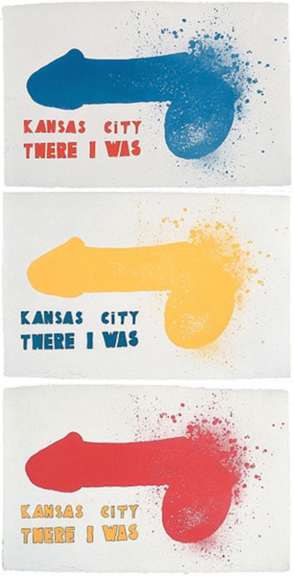 Kansas City (3 Sheets) by Jim Dine