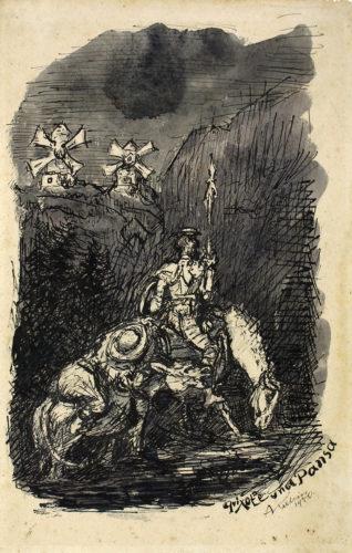 Don Quixote Und Sancho Pansa by Alfred Kubin